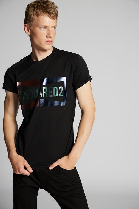 DSQUARED2 Men Short sleeve t-shirt Black Size S 100% Cotton