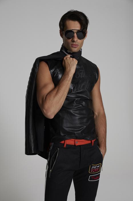 DSQUARED2 Men Short sleeve t-shirt Black Size XL 100% Cotton