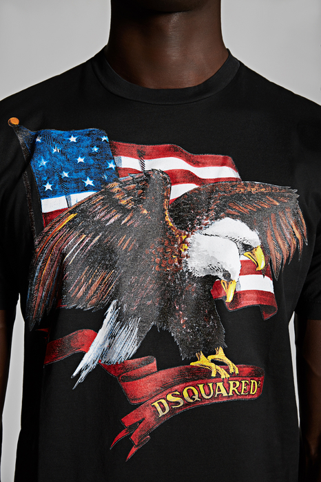 DSQUARED2 Men Short sleeve t-shirt Black Size XS 100% Cotton