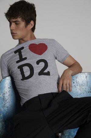 DSQUARED2 Men Short sleeve t-shirt Grey Size S 88% Cotton 12% Viscose