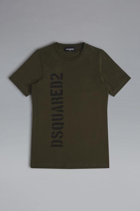 DSQUARED2 Men Short sleeve t-shirt Military green Size 14 100% Cotton