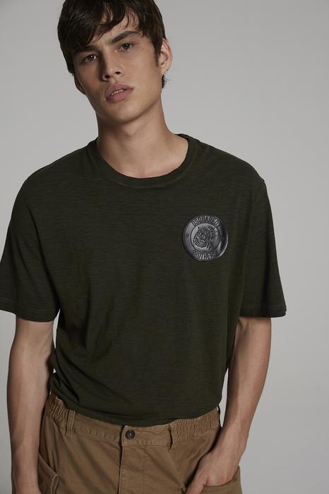 DSQUARED2 Men Short sleeve t-shirt Military green Size M 88% Cotton 12% Viscose