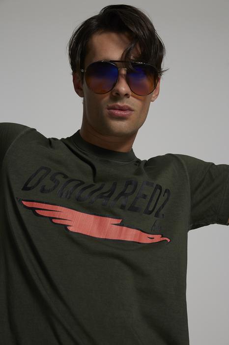 DSQUARED2 Men Short sleeve t-shirt Military green Size XS 100% Cotton