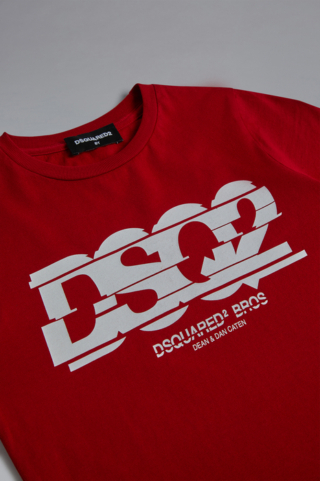 DSQUARED2 Men Short sleeve t-shirt Red Size 10 100% Cotton