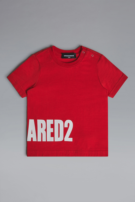 DSQUARED2 Men Short sleeve t-shirt Red Size 6-9 100% Cotton