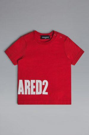 DSQUARED2 Men Short sleeve t-shirt Red Size 9-12 100% Cotton