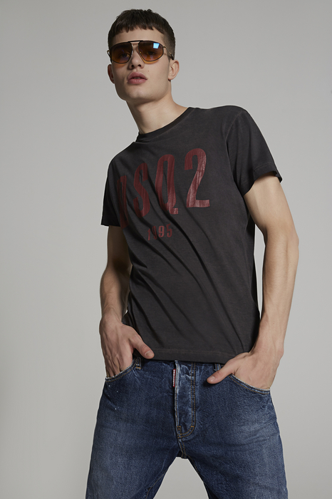 DSQUARED2 Men Short sleeve t-shirt Steel grey Size S 100% Cotton