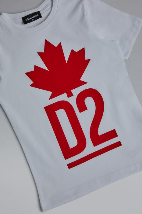 DSQUARED2 Men Short sleeve t-shirt White Size 6 100% Cotton