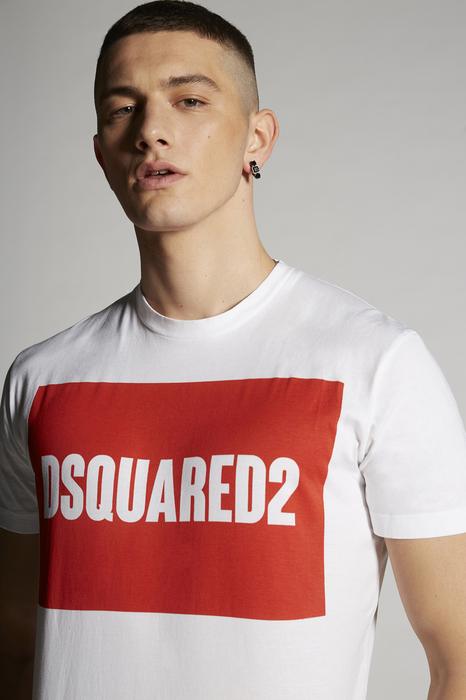 DSQUARED2 Men Short sleeve t-shirt White Size L 100% Cotton