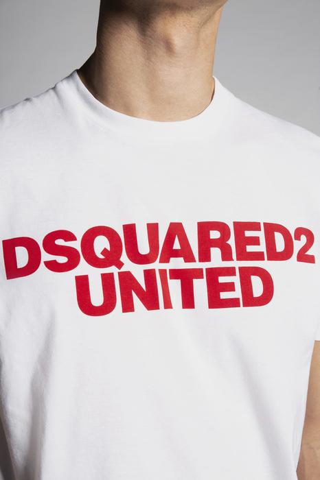DSQUARED2 Men Short sleeve t-shirt White Size M 100% Cotton