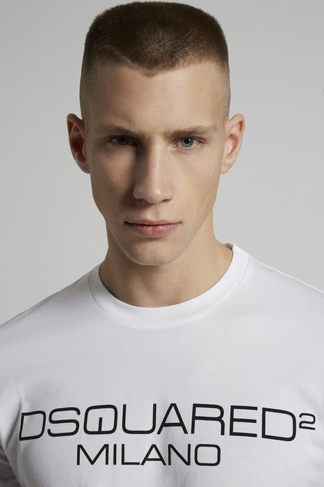 DSQUARED2 Men Short sleeve t-shirt White Size S 100% Cotton