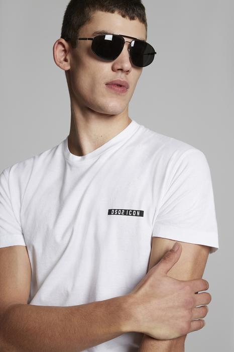 DSQUARED2 Men Short sleeve t-shirt White Size XL 100% Cotton