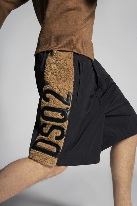 DSQUARED2 Men Shorts Black Size 3XL 100% Polyester
