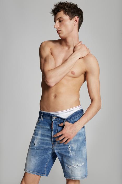 DSQUARED2 Men Shorts Blue Size 32 98% Cotton 2% Elastane