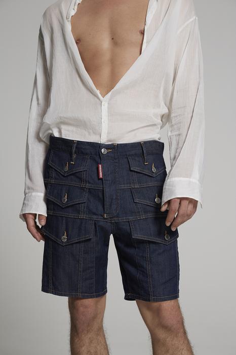 DSQUARED2 Men Shorts Blue Size 36 98% Cotton 2% Elastane