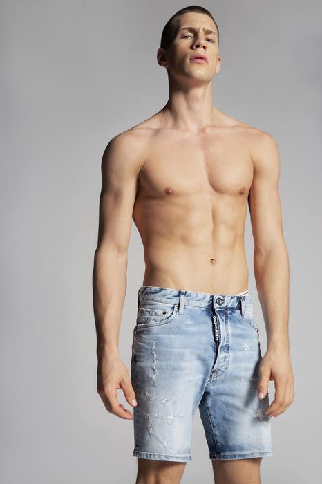 DSQUARED2 Men Shorts Blue Size 36 99% Cotton 1% Elastane