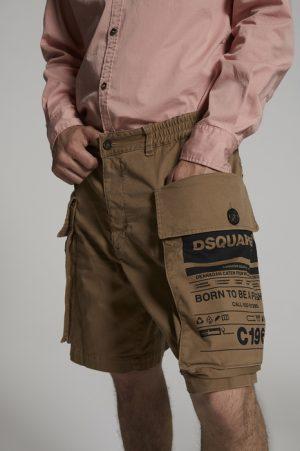 DSQUARED2 Men Shorts Brown Size 30 97% Cotton 3% Elastane