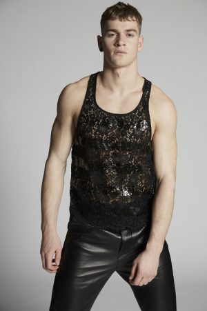 DSQUARED2 Men Sleeveless t-shirt Black Size L 40% Viscose 30% Polyamide 30% Cotton