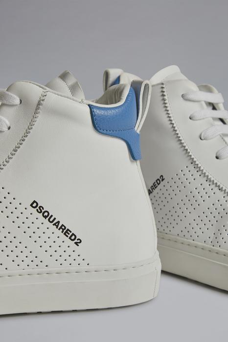 DSQUARED2 Men Sneaker Azure Size 8 100% Calfskin