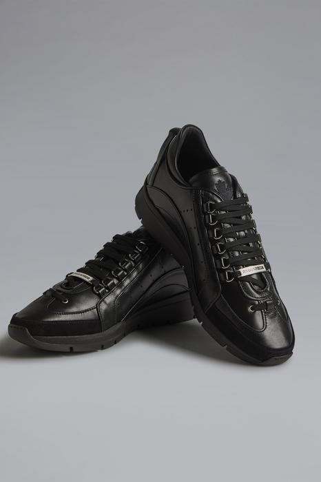 DSQUARED2 Men Sneaker Black Size 12 90% Calfskin 6% Polyurethane 2% Polyester 1% Aluminium 1% Viscose