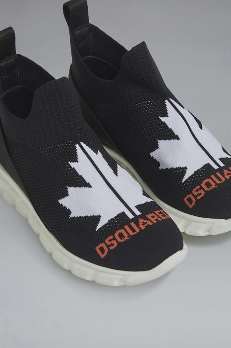 DSQUARED2 Men Sneaker Black Size 3Y 80% Polyamide 20% Lycra®