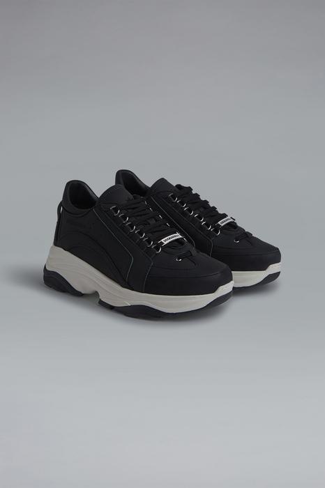 DSQUARED2 Men Sneaker Black Size 7 100% Calfskin