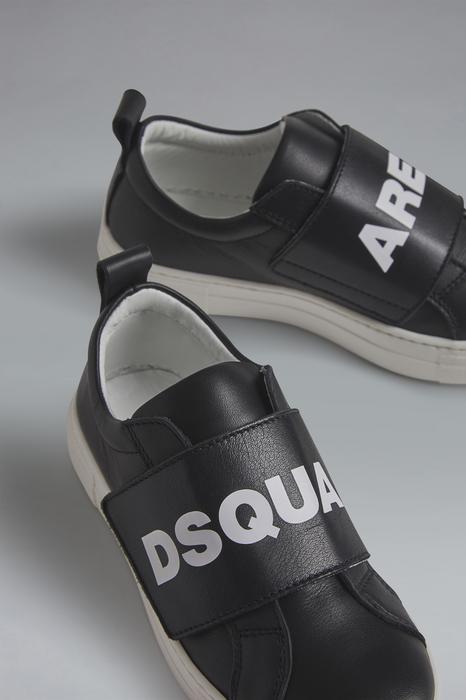 DSQUARED2 Men Sneaker Black Size 8C 100% Calfskin