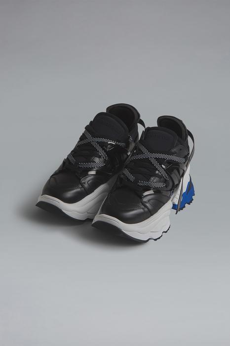 DSQUARED2 Men Sneaker Black Size 9 52% Calfskin 17% Polyethylene 12% Polyamide 11% Polyester 8% Other Fibres