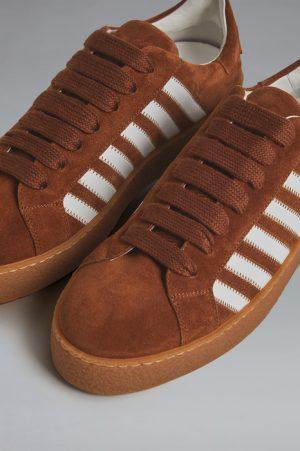DSQUARED2 Men Sneaker Brown Size 10 100% Calfskin