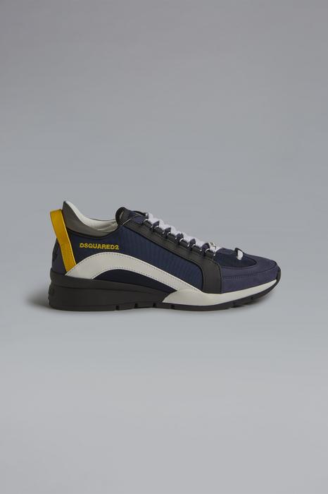 DSQUARED2 Men Sneaker Dark blue Size 8 70% Nylon 20% Calfskin 7% Polyurethane 2% Polyester 1% Viscose