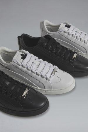 DSQUARED2 Men Sneaker White Size 10 100% Calfskin