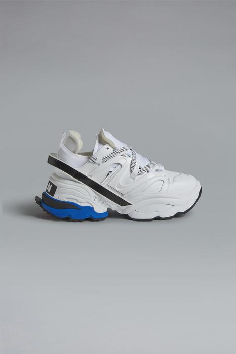 DSQUARED2 Men Sneaker White Size 10 52% Calfskin 17% Polybutylene 12% Polyamide 12% Polyester 7% Nylon