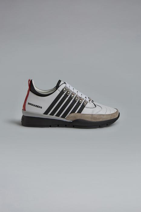 DSQUARED2 Men Sneaker White Size 10 70% Calfskin 15% Polyurethane 10% Polyamide 3% Polyester 2% Viscose