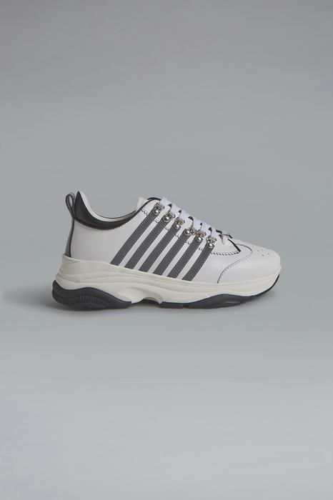 DSQUARED2 Men Sneaker White Size 11 50% Calfskin 40% Polyurethane 10% Polyester