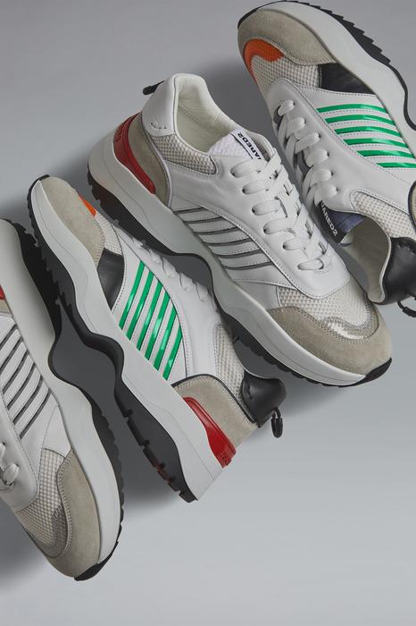 DSQUARED2 Men Sneaker White Size 11 90% Bovine leather 10% Polyester