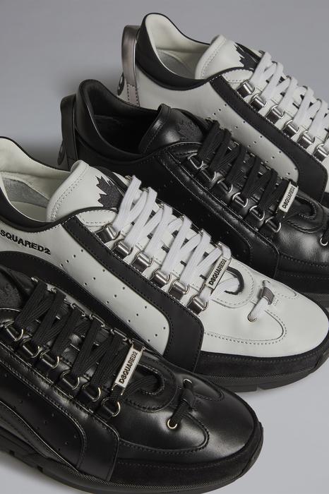DSQUARED2 Men Sneaker White Size 11 90% Calfskin 6% Polyurethane 2% Polyester 1% Aluminium 1% Viscose