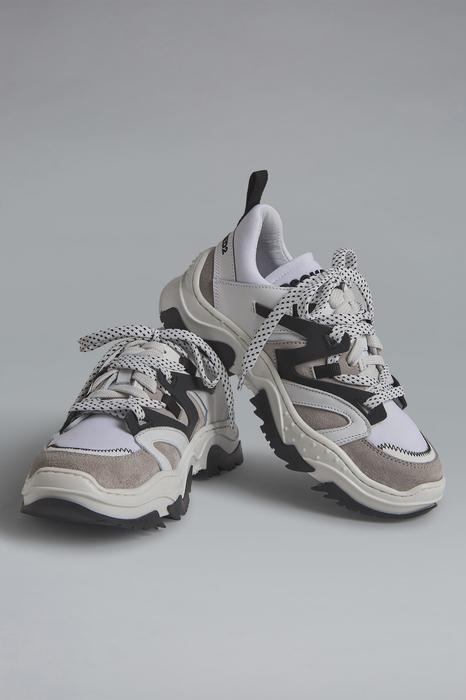 DSQUARED2 Men Sneaker White Size 11C 84% Calfskin 13% Polyamide 3% Elastane