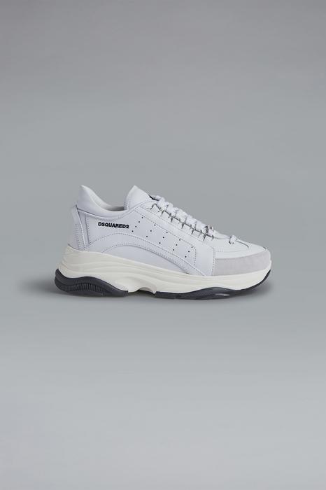 DSQUARED2 Men Sneaker White Size 13 100% Calfskin