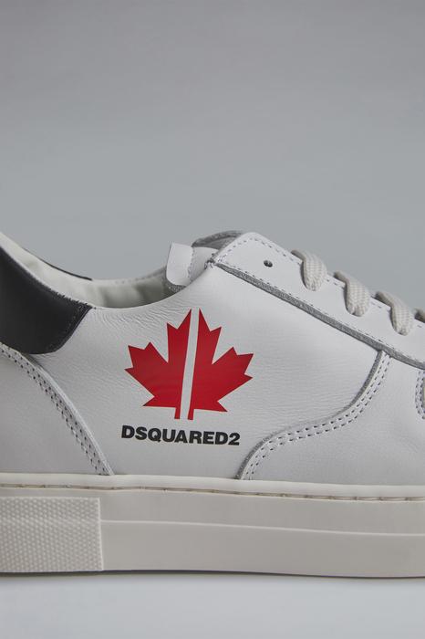 DSQUARED2 Men Sneaker White Size 2Y 100% Calfskin