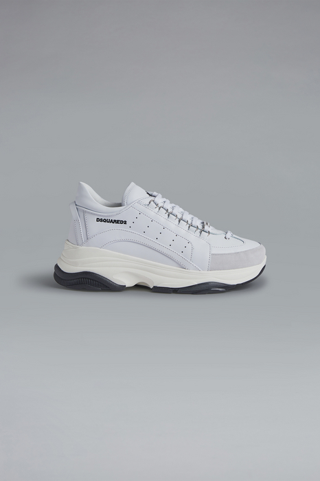 DSQUARED2 Men Sneaker White Size 6 100% Calfskin