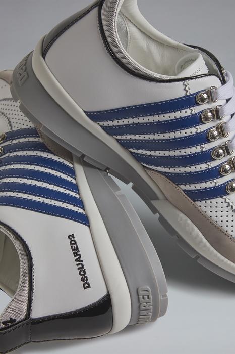 DSQUARED2 Men Sneaker White Size 6 75% Calfskin 15% Polyurethane 5% Polyester 4% Nylon 1% Viscose