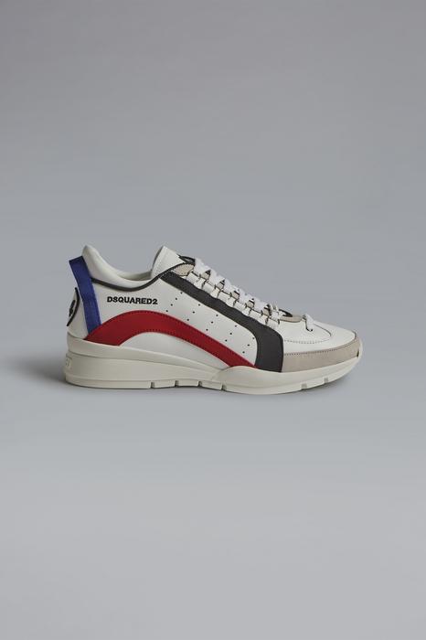 DSQUARED2 Men Sneaker White Size 6 75% Calfskin 15% Polyurethane 8% Polyester 2% Viscose