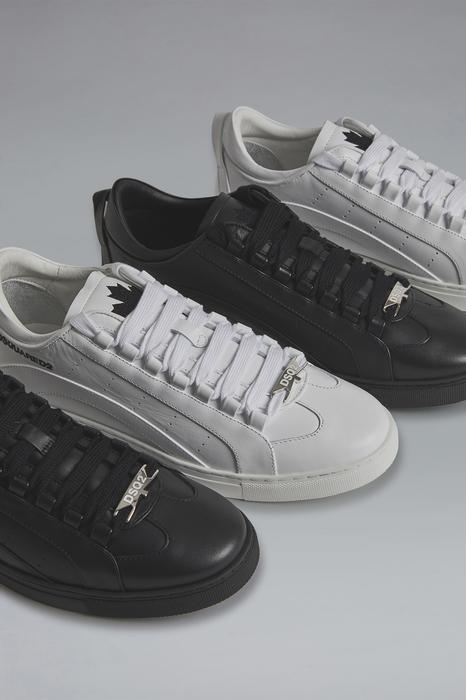 DSQUARED2 Men Sneaker White Size 8 100% Calfskin