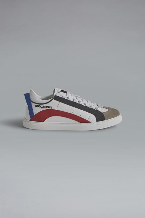 DSQUARED2 Men Sneaker White Size 8 43% Polyester 40% Calfskin 15% Polyurethane 2% Viscose