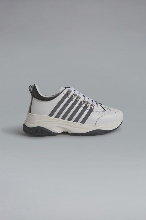 DSQUARED2 Men Sneaker White Size 8 50% Calfskin 40% Polyurethane 10% Polyester