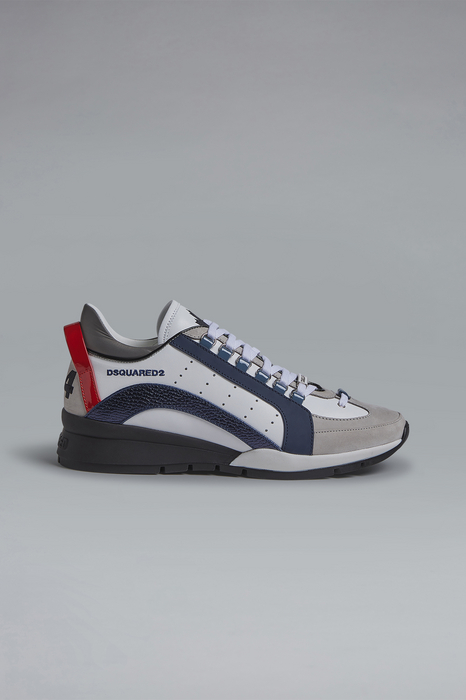 DSQUARED2 Men Sneaker White Size 9 80% Calfskin 15% Polyester 5% Cotton