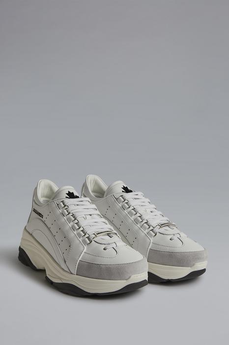 DSQUARED2 Men Sneaker White Size 9 Calfskin