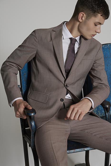 DSQUARED2 Men Suit Beige Size 44 100% Virgin Wool