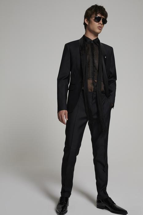 DSQUARED2 Men Suit Black Size 40 65% Virgin Wool 35% Silk
