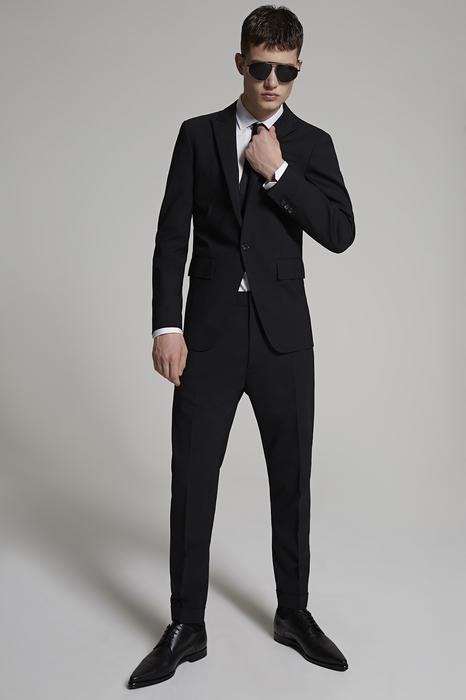DSQUARED2 Men Suit Black Size 46 95% Virgin Wool 5% Elastane